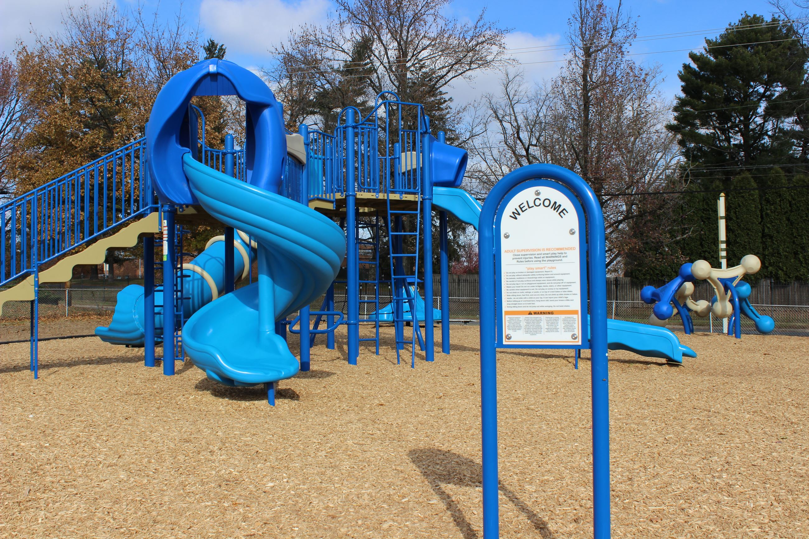 Brand New blue playground Equipment