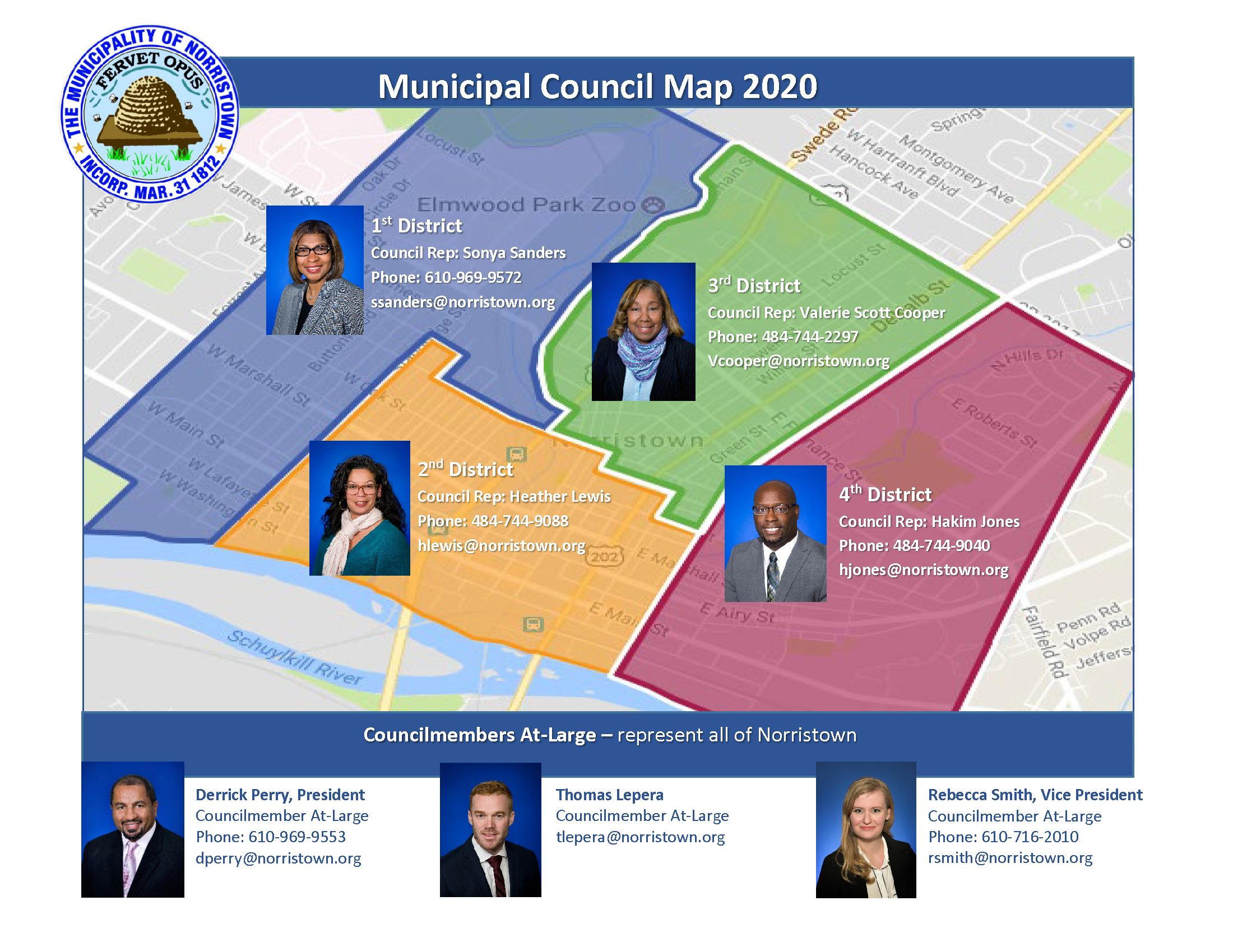 2020 Norristown Council Map