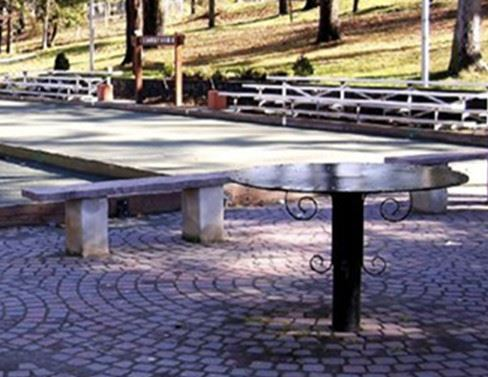 Table and Seating Outdoors