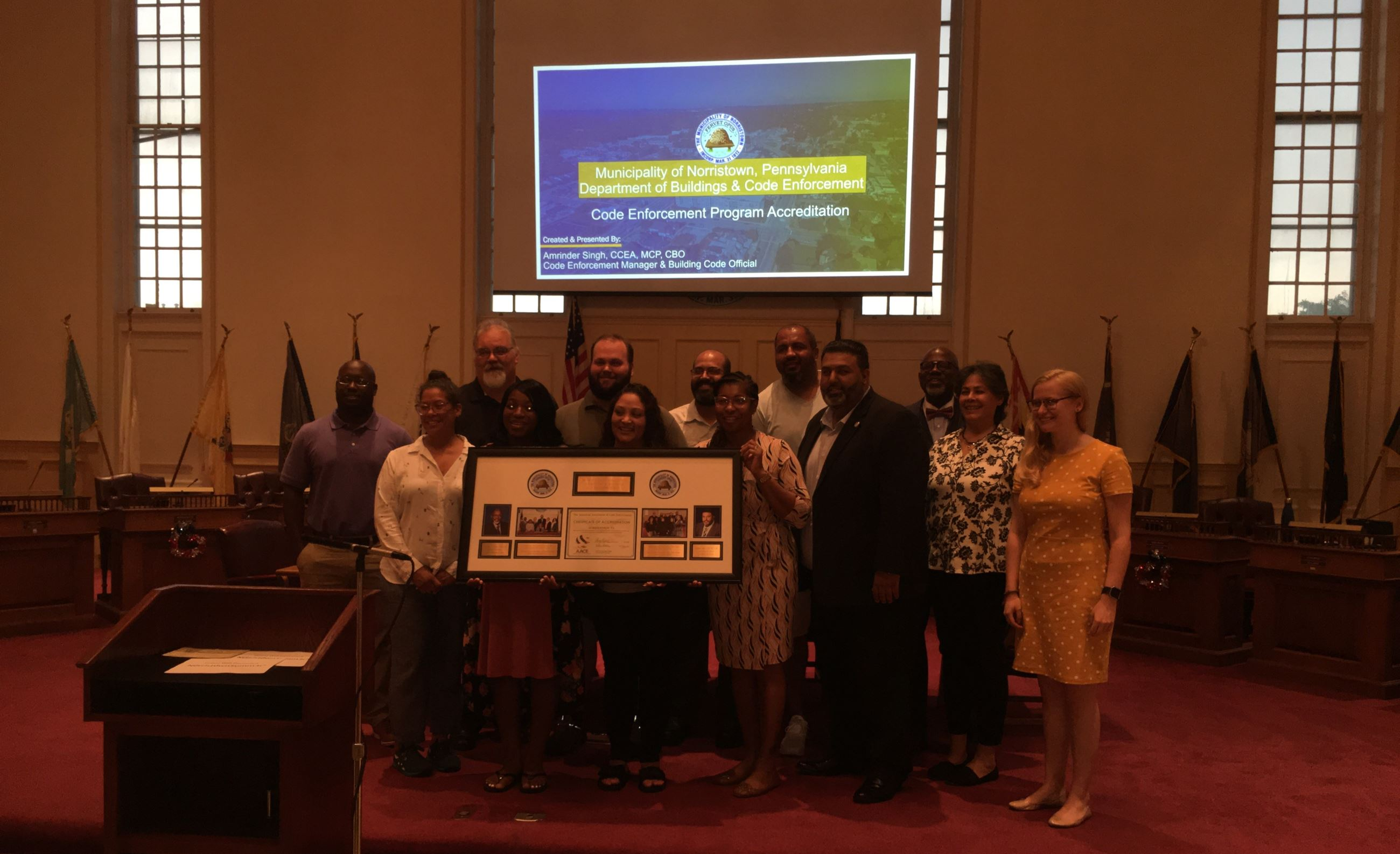 Accreditation Certificate Presentation on July 2, 2019 Council Meeting