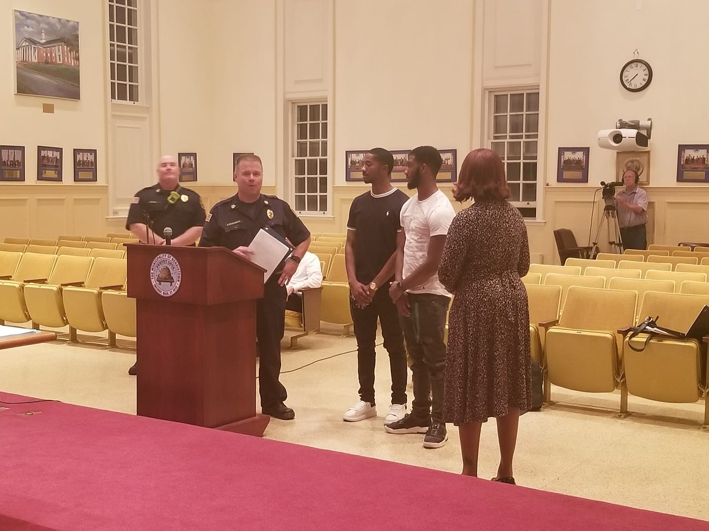 Two young men were honored as heros at council meeting