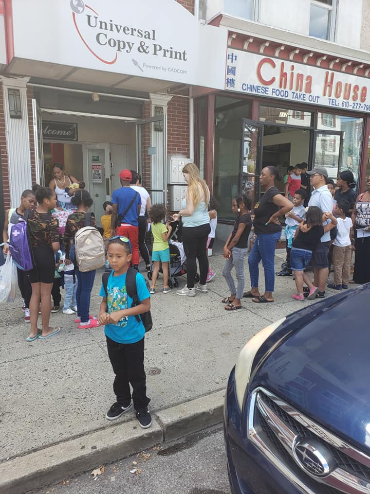 Community at the Back to School Event Aug 24